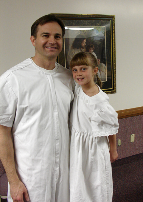 me and Eliana just before her baptism