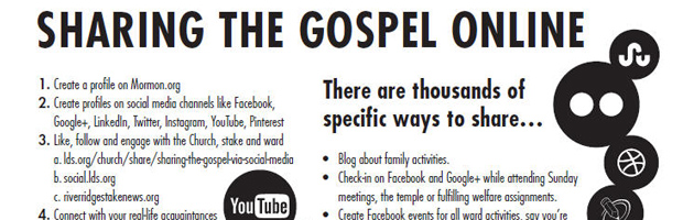 sharing the gospel online - handout