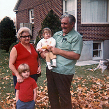 Angelo & Elenora Codella with 2 grandchildren: Peter and Angeline