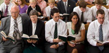 LDS sacrament meeting hymn singing