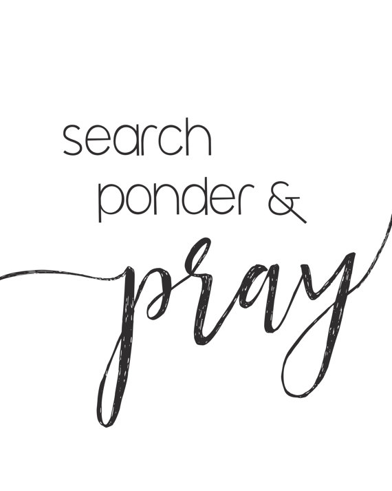 search ponder and pray