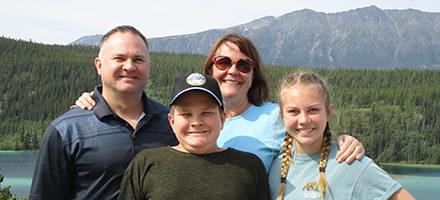 Pete, Vickey, Eliana and Dominic in Yukon
