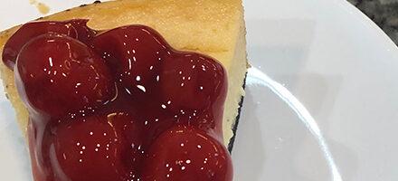New York-style ricotta cheesecake